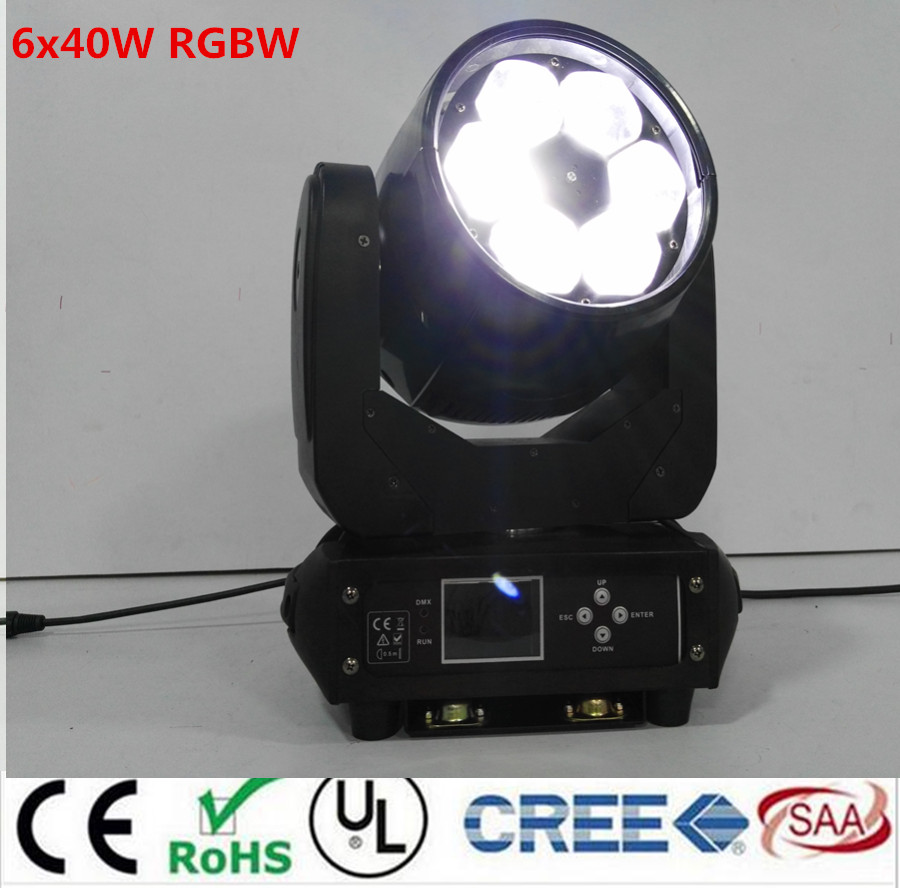 LED BEAM ZOOM WASH 6x40W 4in1 RGBW LED ZOOM moving head beam light for Bar effect led stage lighting dmx dj lights high quality 9x10w rgbw led spider beam moving head light for disco dj bar club led beam wash light dmx effect stage lighting