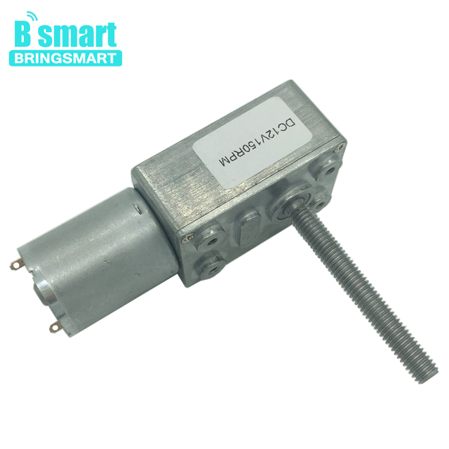 Bringsmart JGY370 M6 Screw Shaft Length 50mm Worm DC Gear Motor Reduction Gearbox Self-lock Micro Turbine Worm Reducer Reversed