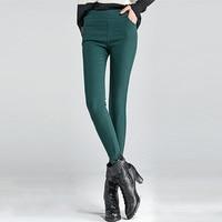 Hot Sale Winter Women Super Elastic Skinny Pants Velvet Thickening Leggings Trousers Plus Size 4XL Female
