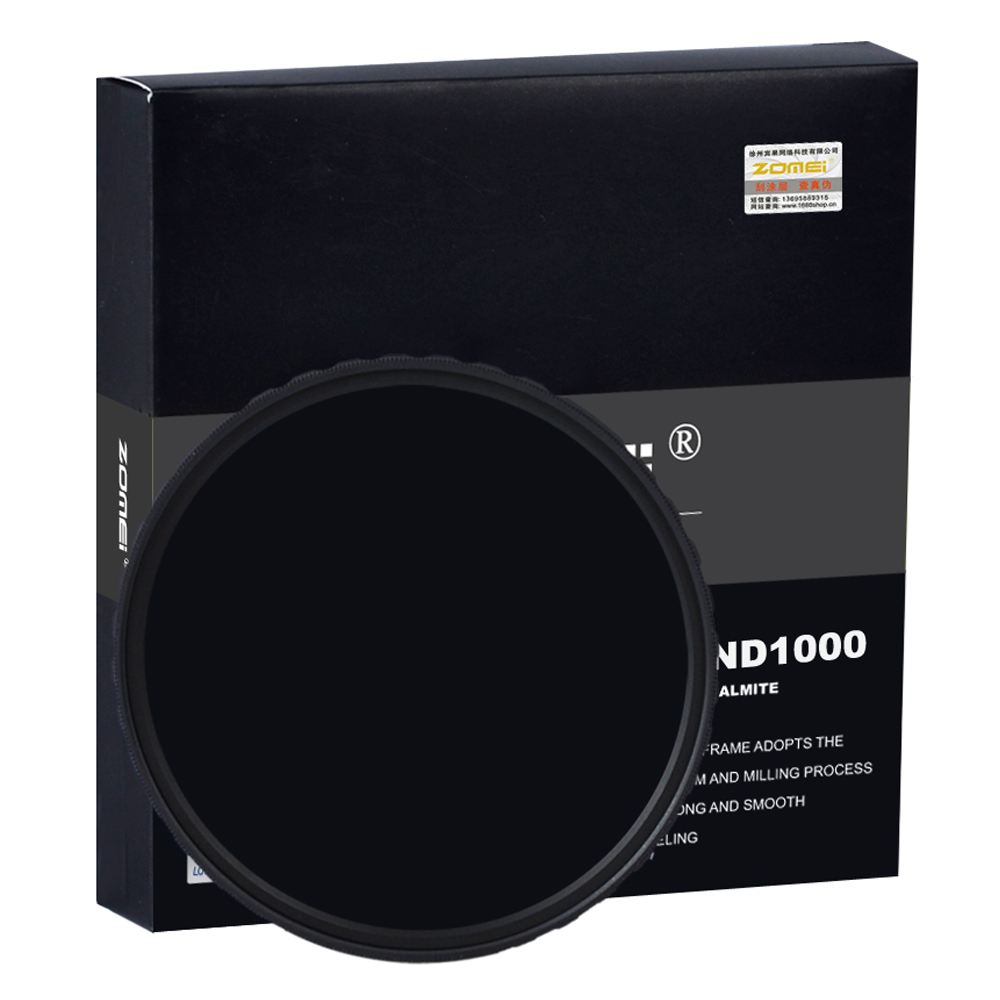 Zomei 10-STOP 52/58/67/72/77/82MM Slim HD ND1000 Multi-coated Pro Optical Glass Neutral Density Filter For Canon Nikon Camera 82mm zomei hd slim adjustable fader 18 layer nd2 400 filter neutral density nd optical glass for canon nikon sony pentax lens