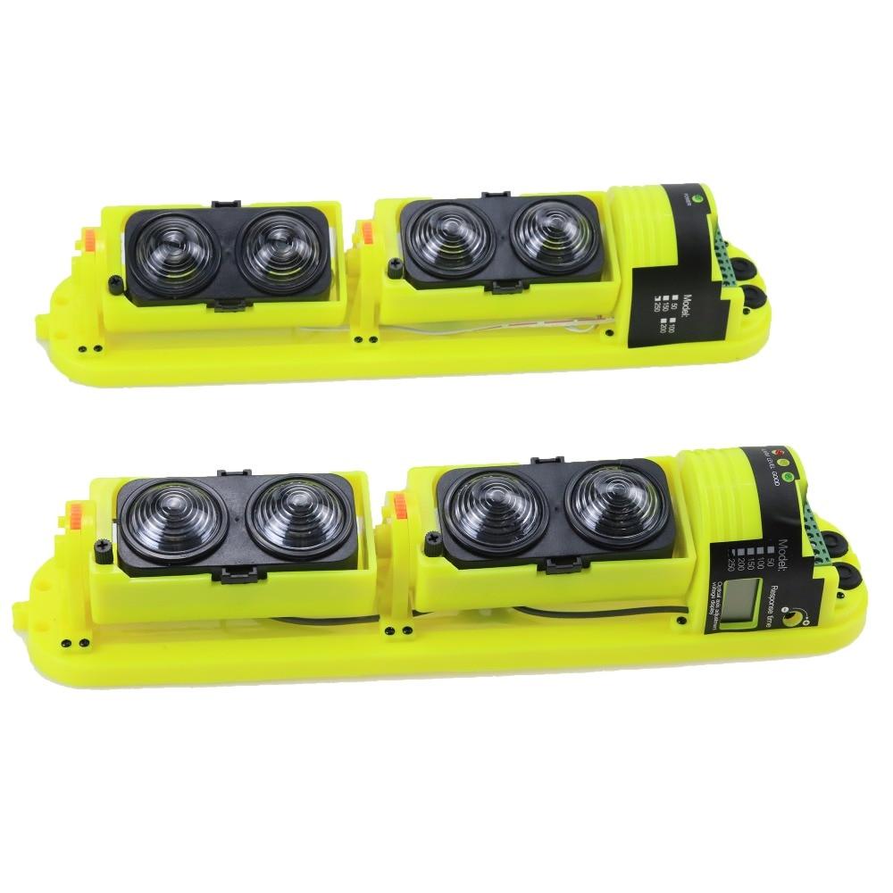 GZGMET Waterproof 250 Meters Photoelectric IR 4 Beam Detector Outdoor Sensor Infrared Barrier Detector for Home Alarm System цена