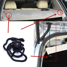 2PCS/pair Car Vehicle Parcel Shelf String Strap Cord Rope Black For VW/Golf/MK6/R20/GTI Black Free Shipping