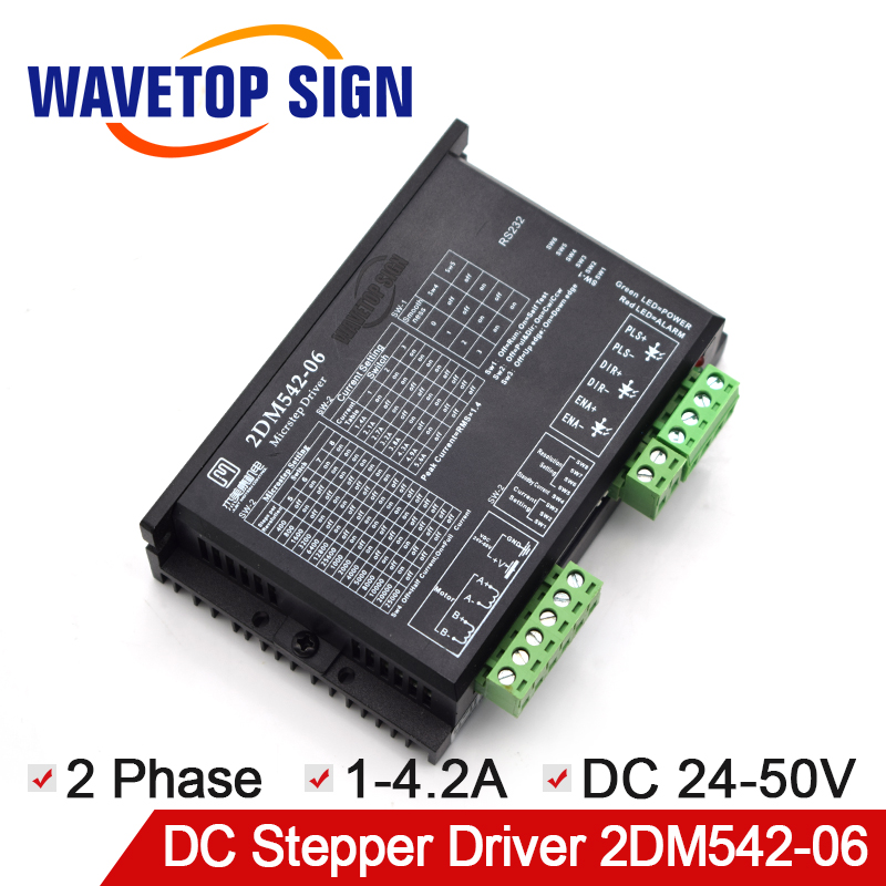 JMC 2 phase stepper driver 2DM542-06 match 42serial stepper motor driver VDC24-50V for Laser Engraving and Cutting Machine salvador dali dali wild