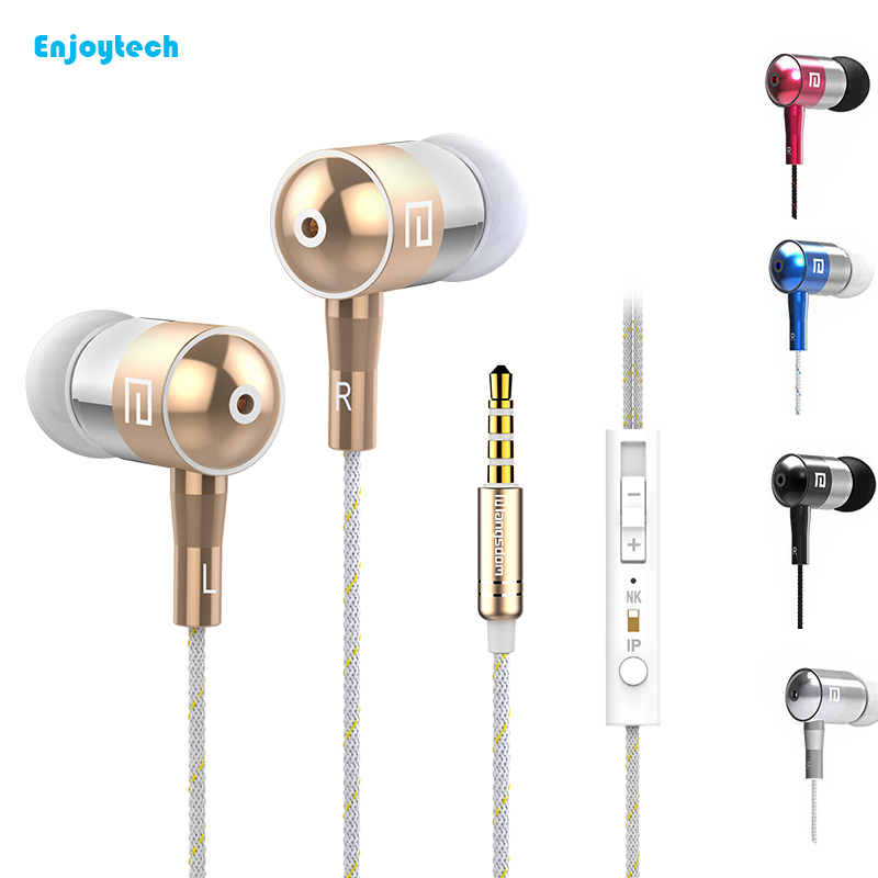 High Quality Wired Earphone With Microphone For iPhone 4/5/6/6s/7 Samsung Huawei Xiaomi Sony HIFI In ear Headset For MP3 Music цены онлайн