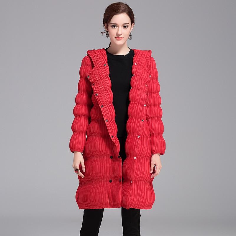 Winter Autumn Women Pleated Fashion New Padded Jacket Lady