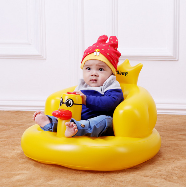 Multifunction baby Inflatable Sofa Duck Chair Kids Learn bath Stools Children Dining Seat travel animal portable music chair hot sale super soft baby sofa multifunctional inflatable baby sofa chair sofa seat portable child kids bath seat chair