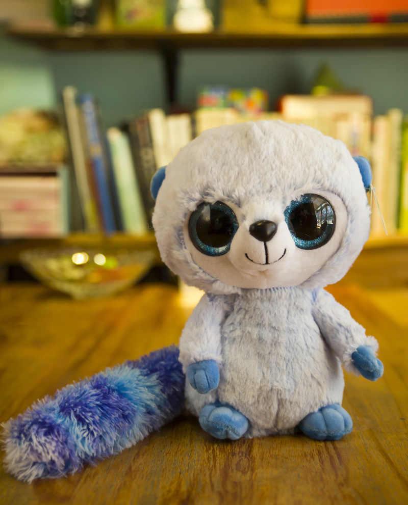 45e890fd4ad ... Large 28CM Kawaii TY Beanie Boos Big Eyes Monkey Panda Raccoon Cat  Penguin squirrel Plush Stuffed ...