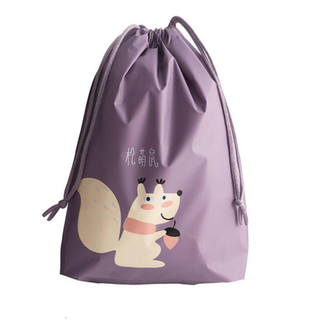 8799cea40122 4 Colors Shoes Underwear Storage Bag Travel Suitcase Cartoon Waterproof  Organizer Drawstring Sorting Packing Bag