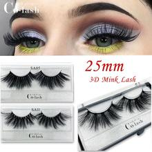 Colash 25mm Lashes Eyelashes 3D Mink Makeup Handmade Full Strip Soft Fluffy Volume lash