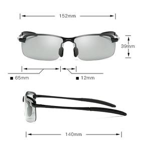 Image 5 - نظارات شمسية جديدة 2018 باللونية المستقطبة للإضاءة الليلية كل قيادة الصيد نظارات شمسية للرجال بإطار معدني UV400 تصميم عصري 3043