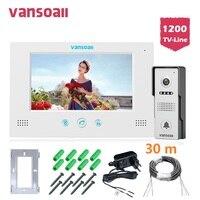 VANSOALL визуальный домофон дверные звонки 7 ''tft ЖК дисплей проводной видео домофон уличная камера с ИК подсветкой системы Поддержка разблокиро