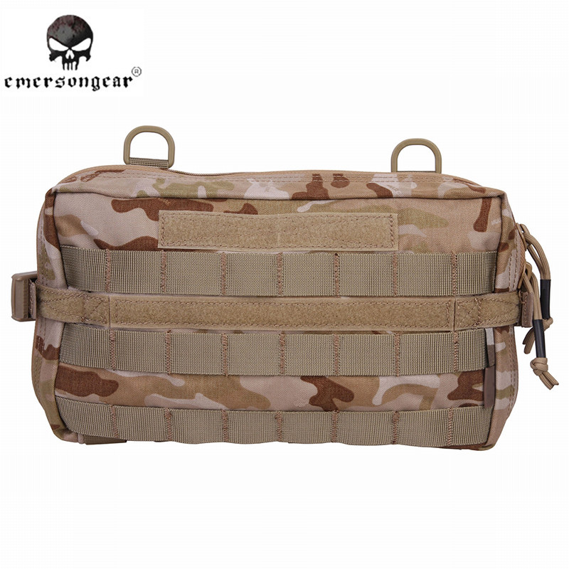 ФОТО Emerson 32*18cm 500D Drop Utility Pouch Military Waist Molle Pack Weapons Tactics Outdoor Sport Ride EDC Hunting Bag EM834 7MCAD