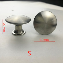 30mm 50pcs/lot Stainless steel Satin Knob Pull Handle Hardware free shipping - S