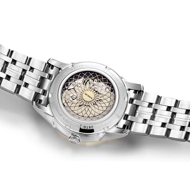 2018 Real New Sale Skeleton Mecánico Hombre Reloj Negro Blanco Acero - Relojes para hombres - foto 3