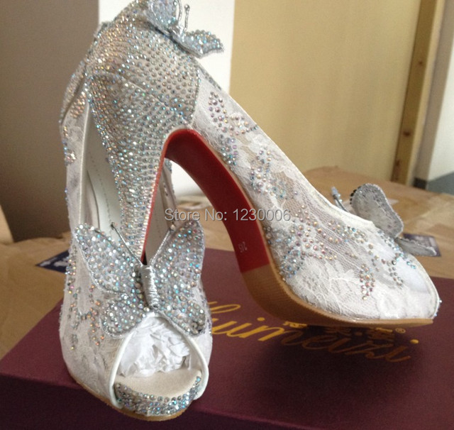 Aliexpress.com : Buy Amazing butterfly wedding shoes sexy high ...