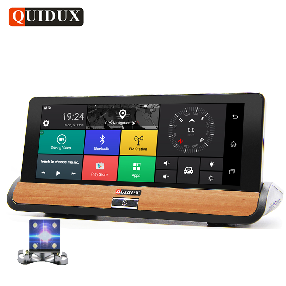 QUIDUX 6.86 IPS 4G Android Car DVR 1080P Dual Lens Dash Camera GPS Navigation ADAS Full HD Video Camera Recorder 1G RAM 16G ROM