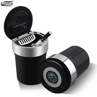 Car Multifunction Ashtray Cigarette Ash Holder Auto Home Travel Portable Cigar Cup Box With Compass 4X4