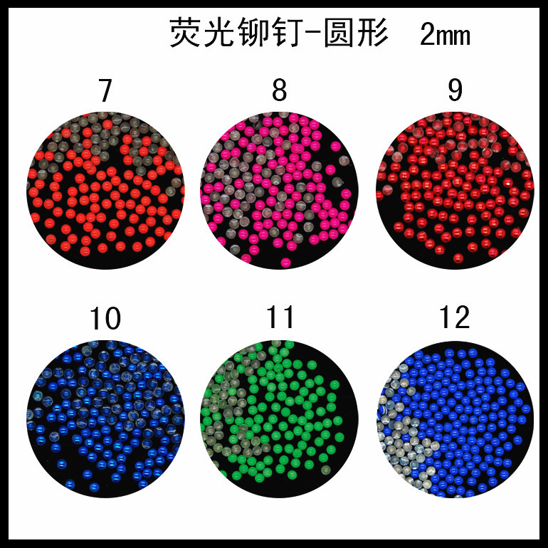 10000pcs/lot Trendy nail fluorescence color stones for nail sticker