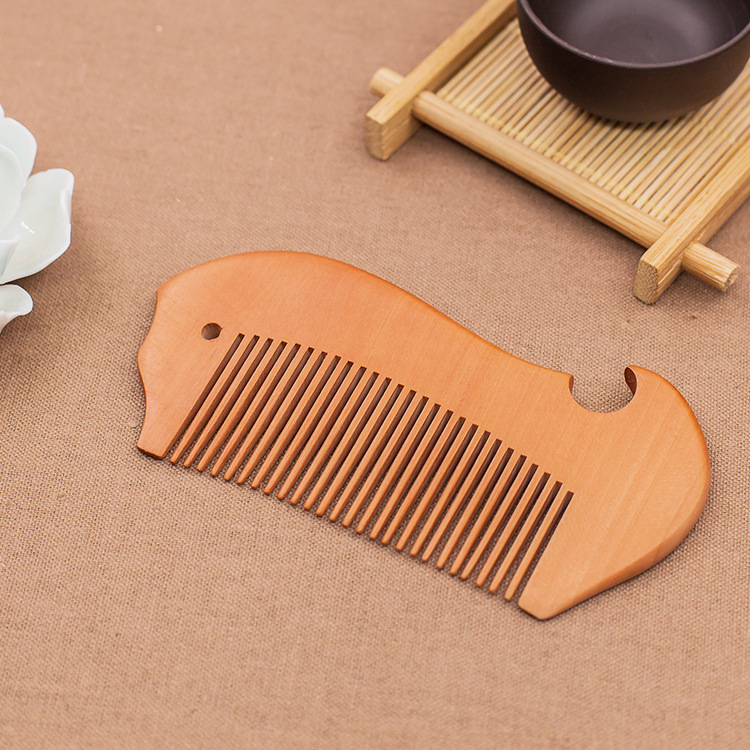 CA16 good manufacturers boutique wood comb carved peach wood comb