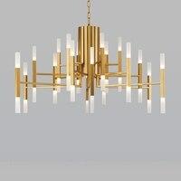 Современные акриловые светодио дный подвесной светильник led Nordic гостиная кухня дизайнер подвесные светильники Avize подвесной светильник