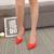 La primavera y El Otoño de las mujeres escoge los zapatos de charol señaló zapatos de tacón alto con finas zapatos de ante negro discoteca femenina