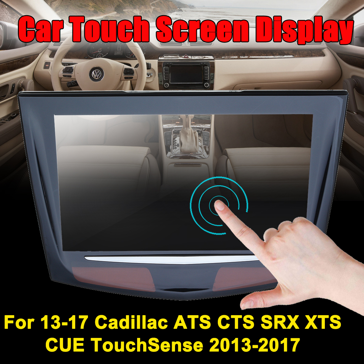 все цены на CUE TouchSense Replacement Touchable Screen Display For Cadillac/ATS/CTS/SRX Car DVD DVR GPS LCD Panel Display Car Monitor онлайн