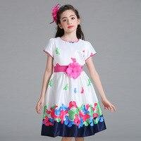 Spring Summer Princess Girls Dress Children Outdoor Sports Flower Wedding Evening Teenager Prom Performances Gorgeous Clothes