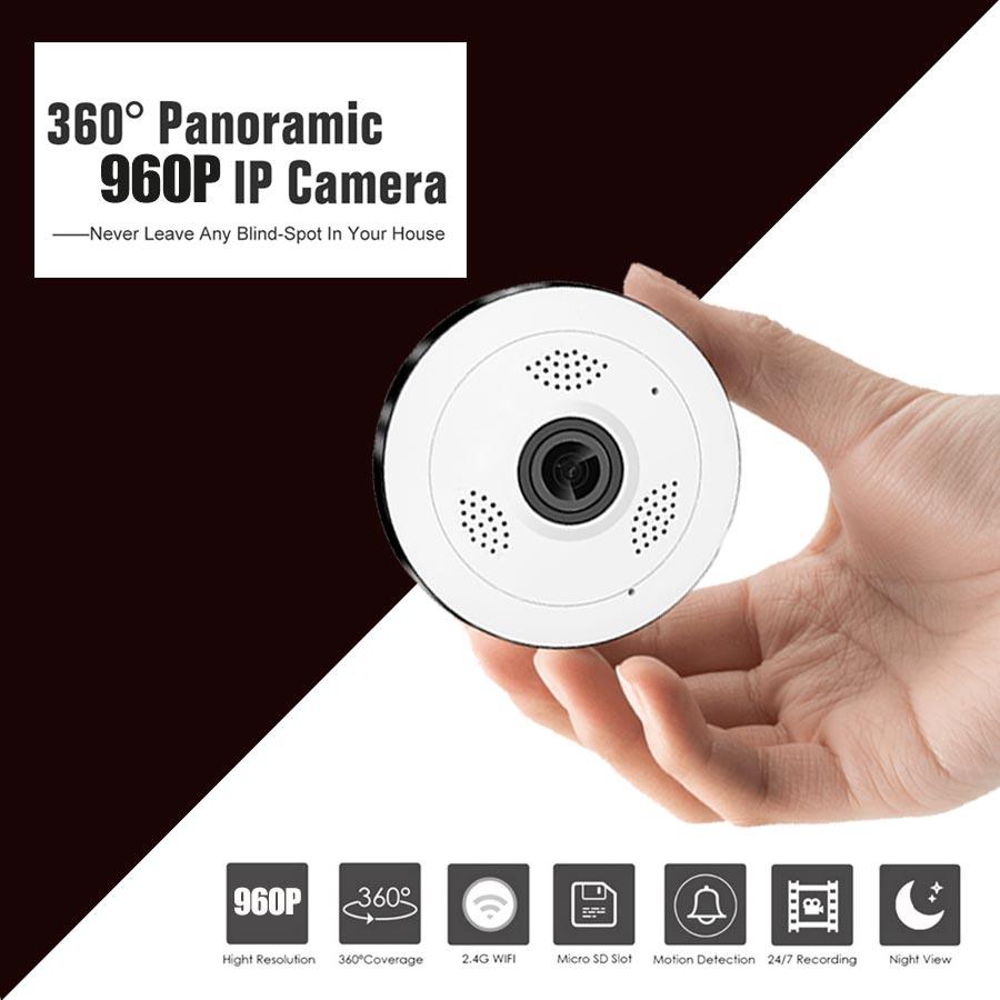 Фотография  HD Wi-fi Mini IP Camera 360 Degree Home Security Wireless P2P Wifi IP CCTV Camera 1.3MP 960PH Video Surveillance Cameras baby