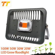 Full Spectrum 100W 50W 30W 20W Smart IC Chip LED Grow Light For hydroponics and indoor /outdoor plants floodlight Greenhouse