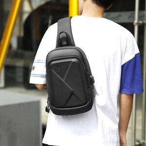Image 4 - ARCTIC HUNTER New mens chest bag shoulder bag casual Messenger bag youth business travel large capacity multi function bag