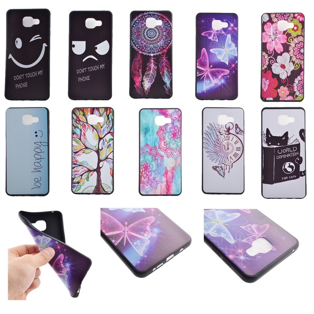 soft tpu silicone case for samsung galaxy a3 2016 a3100 4 7 inch slim cover cat butterfly flower. Black Bedroom Furniture Sets. Home Design Ideas