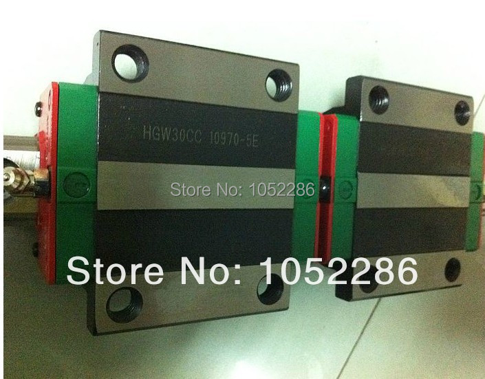 цены 100% brand new Hiwin linear rail guide 2pcs HGR15 L1300mm+4pcs HGW15CA flanged block