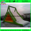 Triangle inflatable floating water slide,inflatable floating slide sea water park