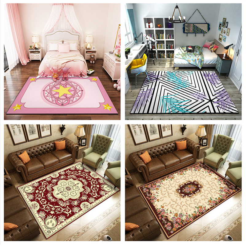 Modern Minimalist Home Polyester Non-slip Living Room Bedroom Carpet  rugs and carpets for home living room kids bedroom