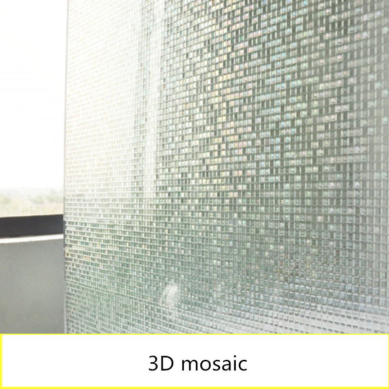 Window glass static glueless film 3d mosaic window paper Office bathroom matte Shading Sunscreen privacy protect Decorative