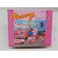 Miniatura Mobília Do Berçário para Barbie Doll House Pretend Play Brinquedos para a Menina Frete Grátis