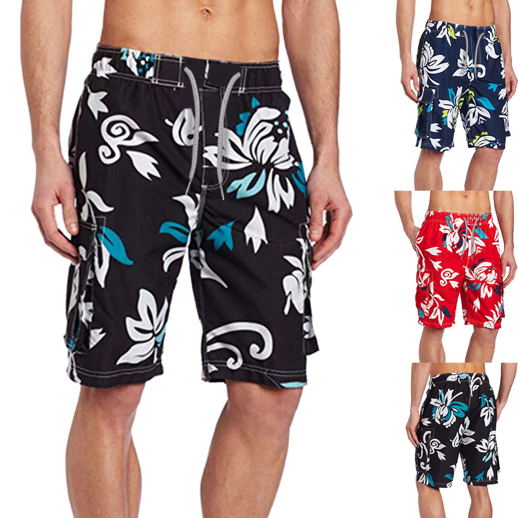 Swimwear Brief Casual Mens Swim Swimming Trunks Surf Splice Printed Beach Work Casual Short Trouser Shorts Pants L0328 Meticulous Dyeing Processes