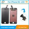 Livre DHL 30 / LOT para iPhone 5S LCD montagem tela de toque digitador Pantalla para iPhone 5S substituição garantia de 100%