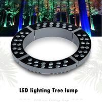 Mejor 24V 48W 72W RGB anillo paisaje árbol iluminación luz paisaje solar Navidad luces proyector exterior impermeable