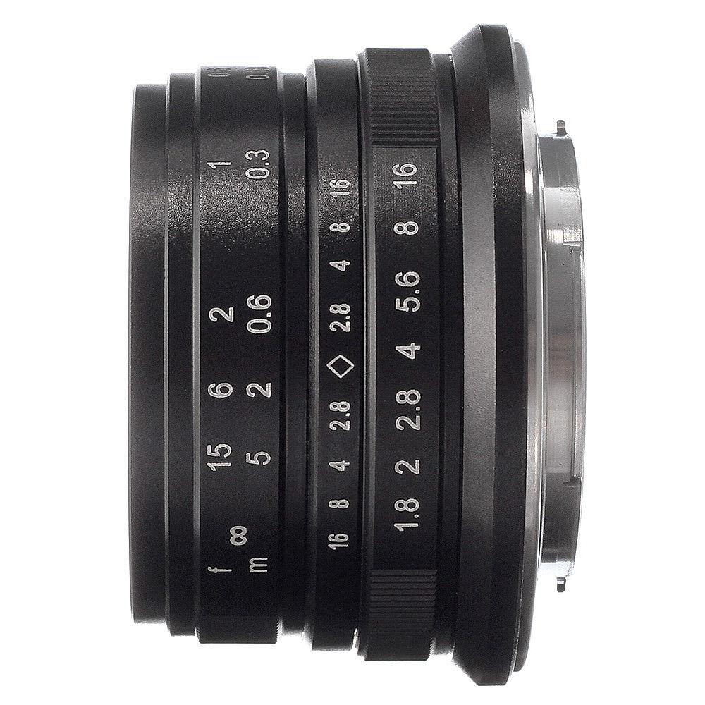 25 мм F/1,8 Prime объектив Ручной фокус MF для Panasonic Olympus M4/3 крепление серебристый черный GH3/4/5 EM10 EM5 II E PL7 E PL9 ручка F GF3/5