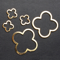 Gold Copper Metal Hollow Out Big Hole Four Leaf  Clover Charm Beads For DIY Jewelry Accessories Free Shipping