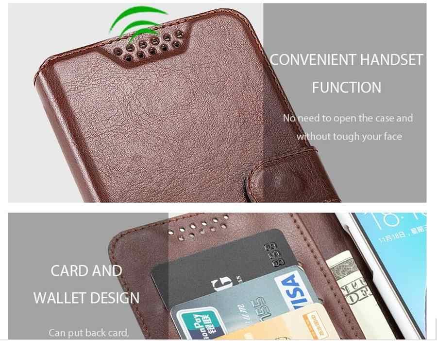 Brieftasche fällen für Panasonic P95 Eluga Puls X I9 I5 I4 I3 Mega I2 Activ C A4 A3 Pro Flip leder Schutzhülle Telefon fall Abdeckung
