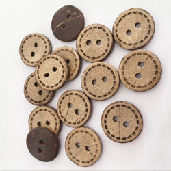 50Pcs Wood Buttons Lovely Cartoon Coconut Button 2 Holes Children Cartoon Clothing Accessories Sewing Scrapbooking
