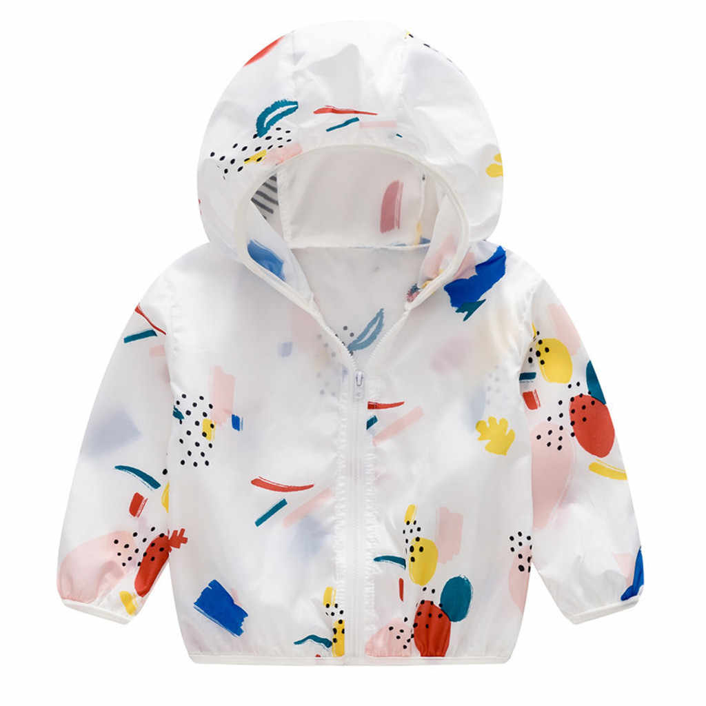 เด็กเสื้อเด็กชายHooded Coatครีมกันแดดเด็กเสื้อผ้าเด็กสาวฤดูร้อนเด็กเสื้อผ้าOutwear 2019