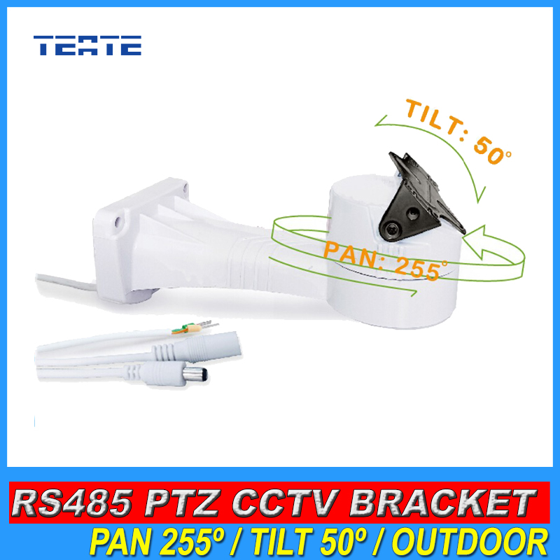High Quality CCTV Bracket PTZ Electrical Rotating RS485 Connection Waterproof Outdoor Built-in Pan Tilt Rotation Motor r0016 2pcs lot long u shaped bracket standard servo bracket ptz pan tilt bracket 2 color smart car robot accessories