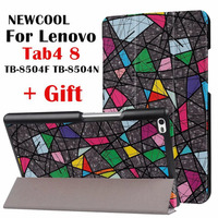 For Lenovo Tab 4 8 Cartoon Painted Leather Case Smart Cover For Lenovo TAB4 8 TB