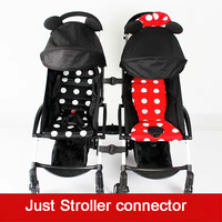 Stroller Connector Adapter 3pcs Coupler Bush Insert Into The Strollers For Yoyo Babyyoya Yoya Yoyo Make Into Pram Twins