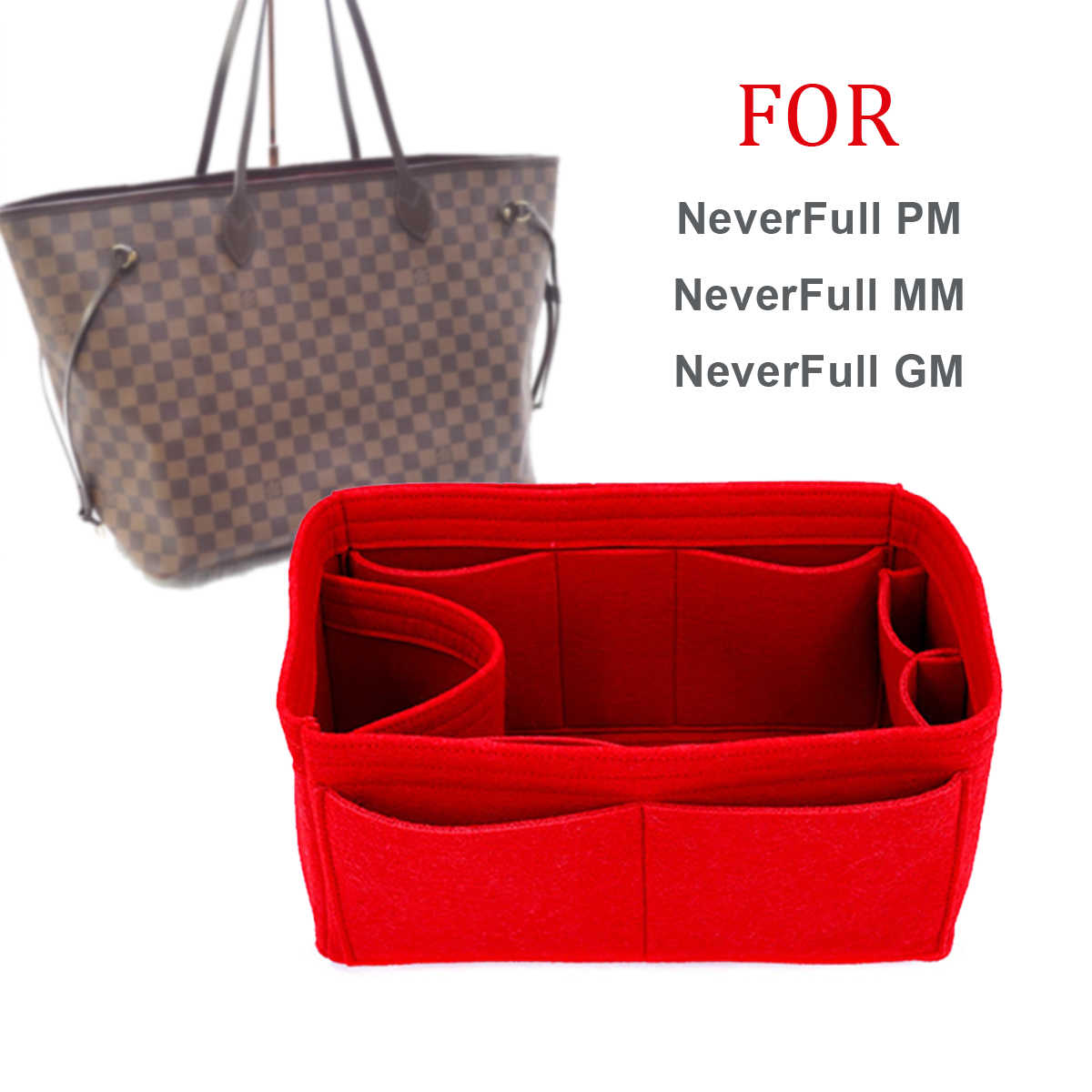 73dde40d84a8 ... SPEEDY 25 30 35 Felt Cloth Insert Bag Organizer Makeup Handbag Organizer  Travel Inner Purse Portable ...