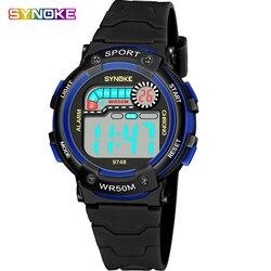 SYNOKE zegarek dla dzieci dla dzieci chłopcy dziewczęta LED cyfrowe zegarki sportowe gumy silikonowej zegar dzieci zegarek inteligentny 5bar elektroniczny zegarek na rękę w Zegarki dla dzieci od Zegarki na