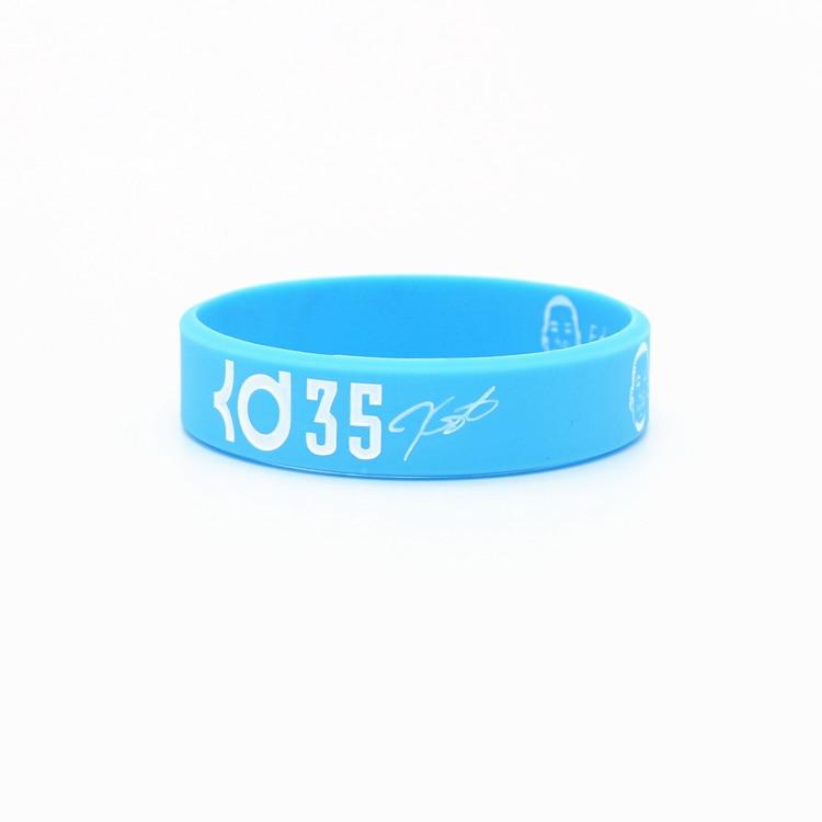 6pcs high quality basketball sports balance wristband rubber power bangle super star durant head version energy bracelet